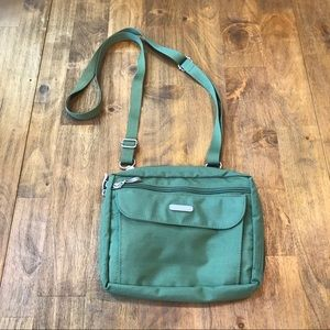 Baggallini Green Crossbody Organizer Travel Bag